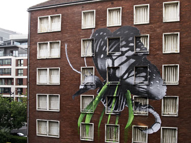 Mutant With Eagle Head ludo thisisludo street art